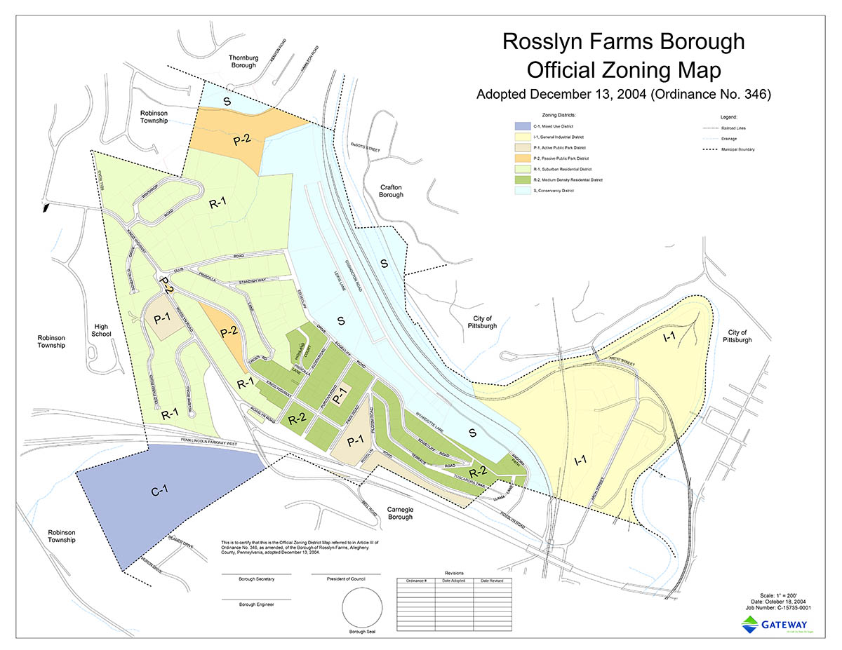 Borough of Rosslyn Farms Zoning Map